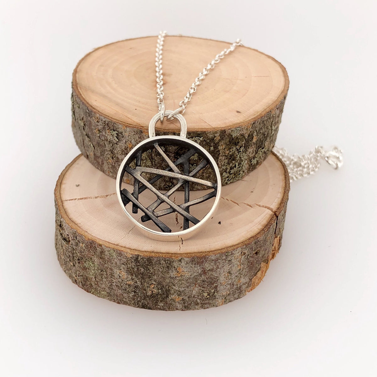 Circle Stick Long Necklace