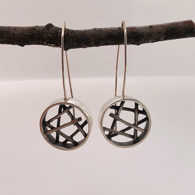 Circle Stick Drop Earrings