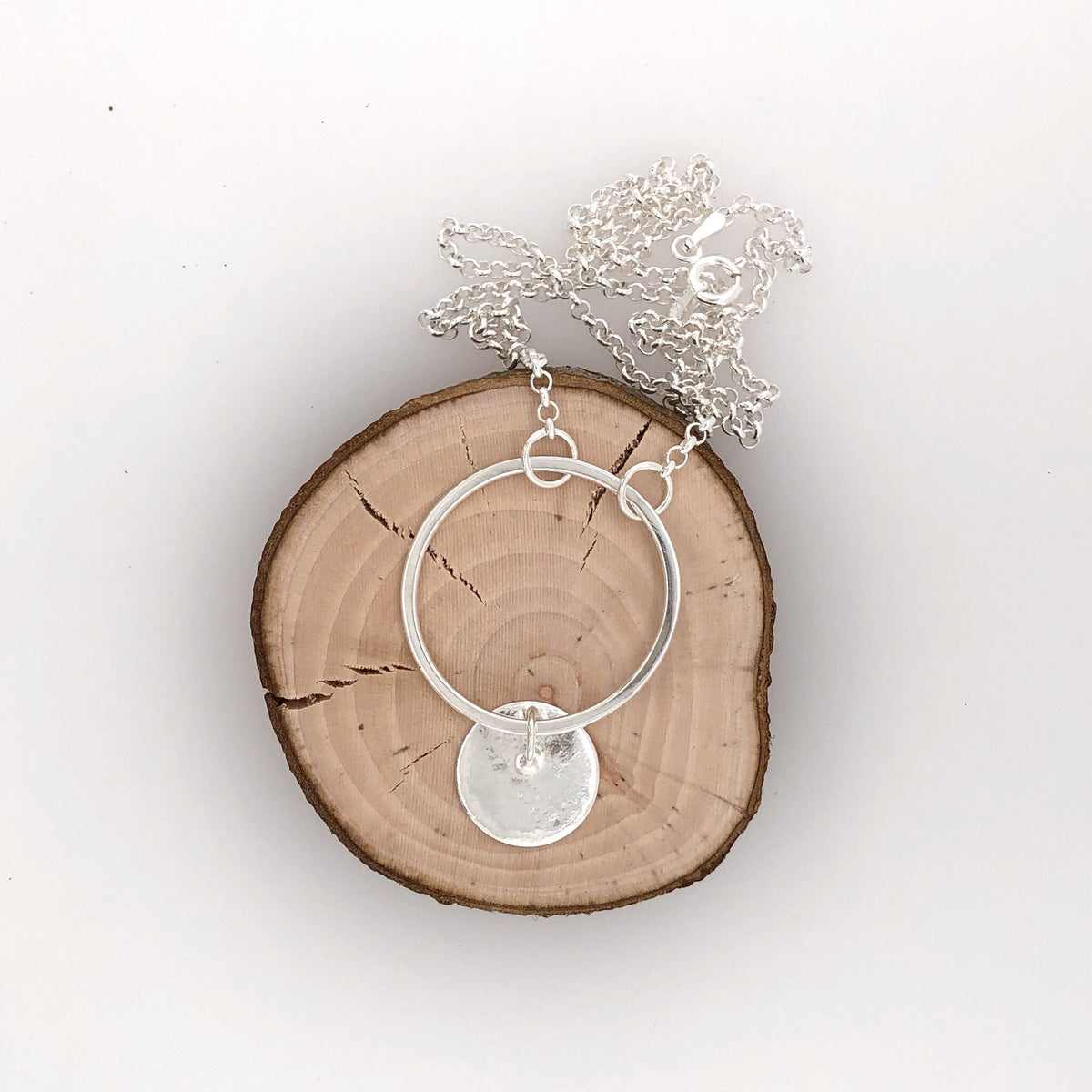Reticulated Landscape Drop Necklace