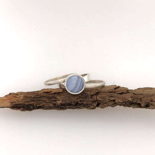 Blue Lace Agate Stacking Rings