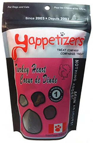 Yappetizers Turkey Heart 100g - Discover Dogs Inc