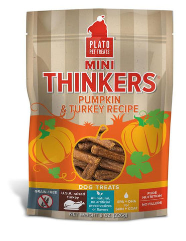 Plato Mini Thinkers Pumpkin & Turkey - Discover Dogs Inc