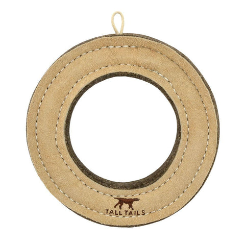"Tall Tails Leather & Wool Ring 7"" - Discover Dogs Inc"