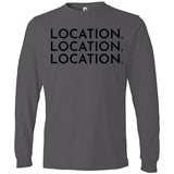 Black Location Location Location - Long Sleeve Men's T-Shirt
