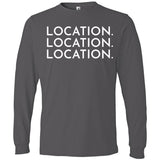White Location Location Location - Long Sleeve Men's T-Shirt