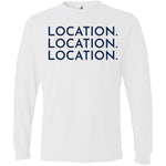 Navy Location Location Location - Long Sleeve Men's T-Shirt