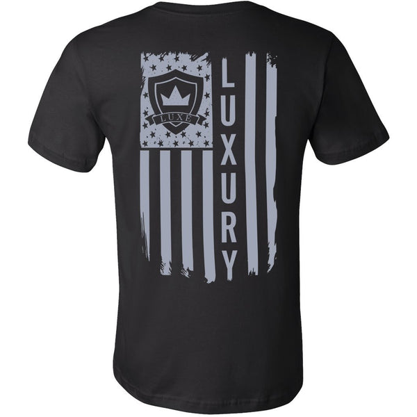 Gray American Flag - Short Sleeve Men's T-Shirt
