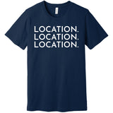 White Location Location Location - Short Sleeve Men's T-Shirt