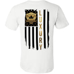 Black & Gold American Flag - Short Sleeve Men's T-Shirt