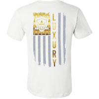 Gold American Flag - Short Sleeve Men's T-Shirt