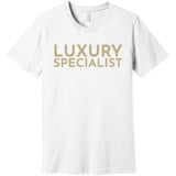 Gold Luxury Specialist - Short Sleeve Men's T-Shirt