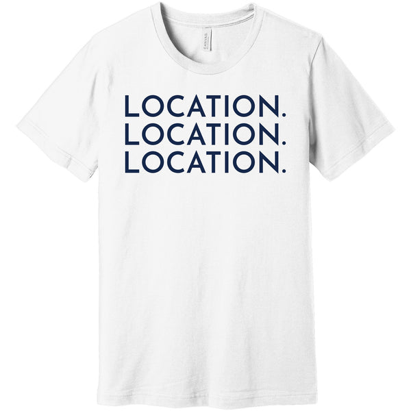 Navy Location Location Location - Short Sleeve Men's T-Shirt
