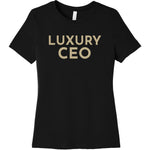 Gold Luxury CEO - Short Sleeve Women's T-Shirt