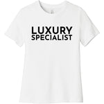Black Luxury Specialist - Short Sleeve Women's T-Shirt