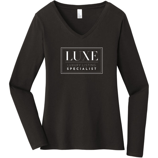 White Luxe Logo - Long Sleeve Women's T-Shirt