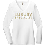 Gold Luxury Specialist - Long Sleeve Women's T-Shirt