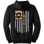 Gold American Flag - Pullover Hooded Sweatshirt