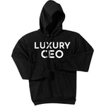 White Luxury CEO - Pullover Hooded Sweatshirt