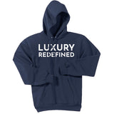 White Luxury Redefined - Pullover Hooded Sweatshirt