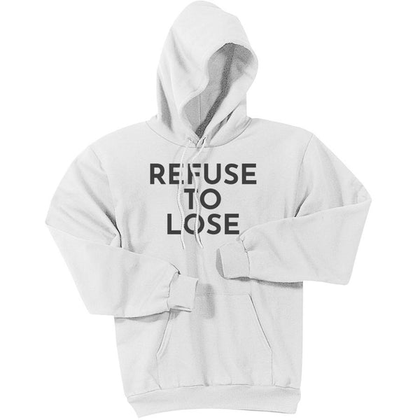 Charcoal Refuse To Lose - Pullover Hooded Sweatshirt