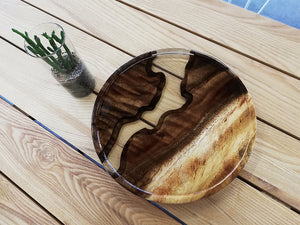 Resin wood coffee tray serving tray3 - MOOKAFURNITURE