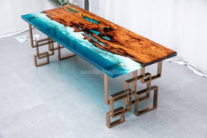 Ocean resin table - MOOKAFURNITURE