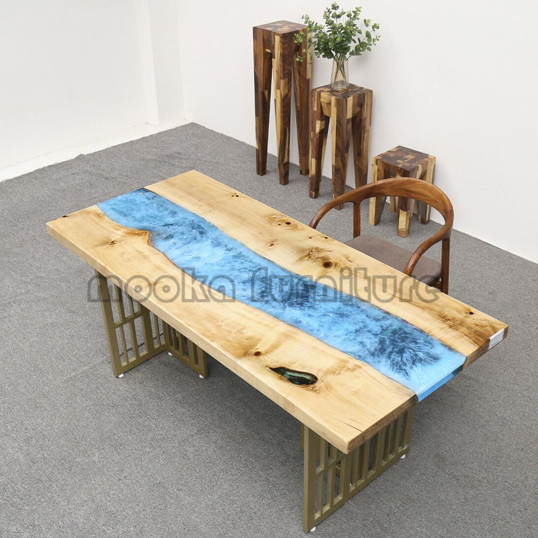 Resin River Table - MOOKAFURNITURE