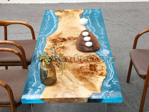 Resin Wood Table - MOOKAFURNITURE