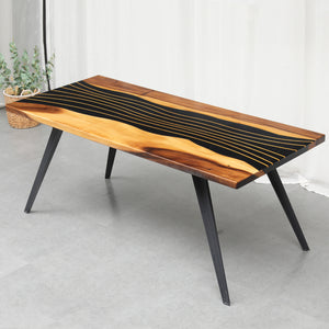 River Walnut Dining Table - MOOKAFURNITURE