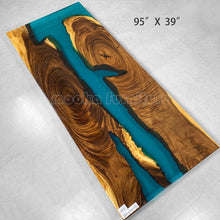 Load image into Gallery viewer, Resin Wood River Table