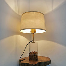 Load image into Gallery viewer, RESIN MAPLE BURL WOOD TABLE LAMP
