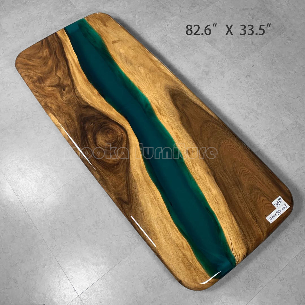 Resin Wood River Table