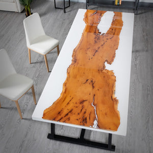 DIY river dining table - MOOKAFURNITURE