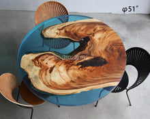 Load image into Gallery viewer, Resin Wood Dining Round Table