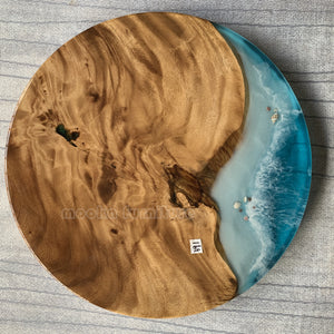 Coffee resin wooden table FREE SHIPPING