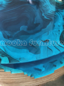unique blue ocean abyss table - MOOKAFURNITURE