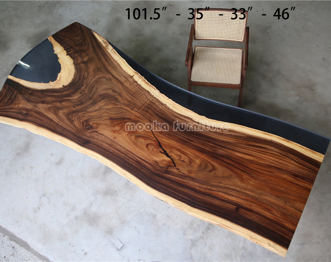 Resin Wood Dining Table