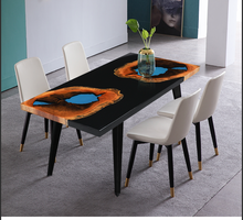 Load image into Gallery viewer, diy Black Resin Table - MOOKAFURNITURE