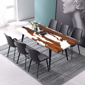 MKRT-190704 Designer Specially Designs Snowy Resin Dining Table