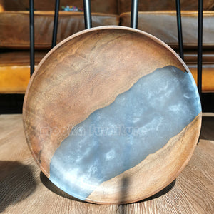 BLACK WALNUT RESIN TRAY FREE SHIPPING