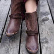 Button Buckle Boot