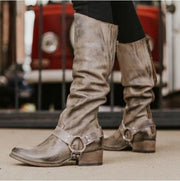 Smokey Buckle Knee-High Riding Boots