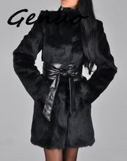Shaggy Thick Imitation Mink Fur Coat (Plus S-5xl)