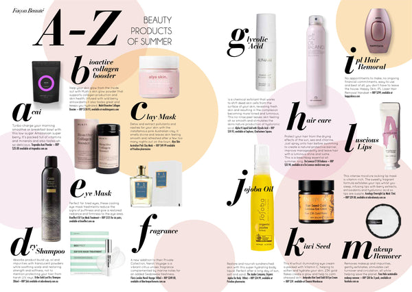 A to Z Beauty Products of Summer Nuggett x Charlie Skincare