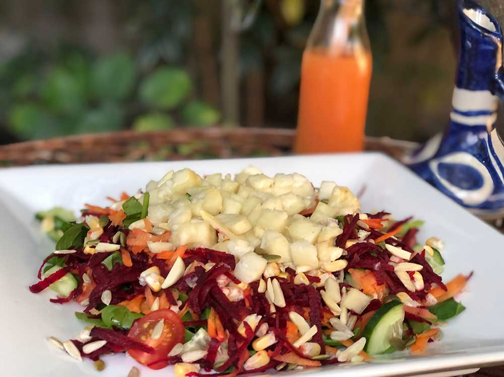 Nugg's Raw Rainbow Salad Recipe