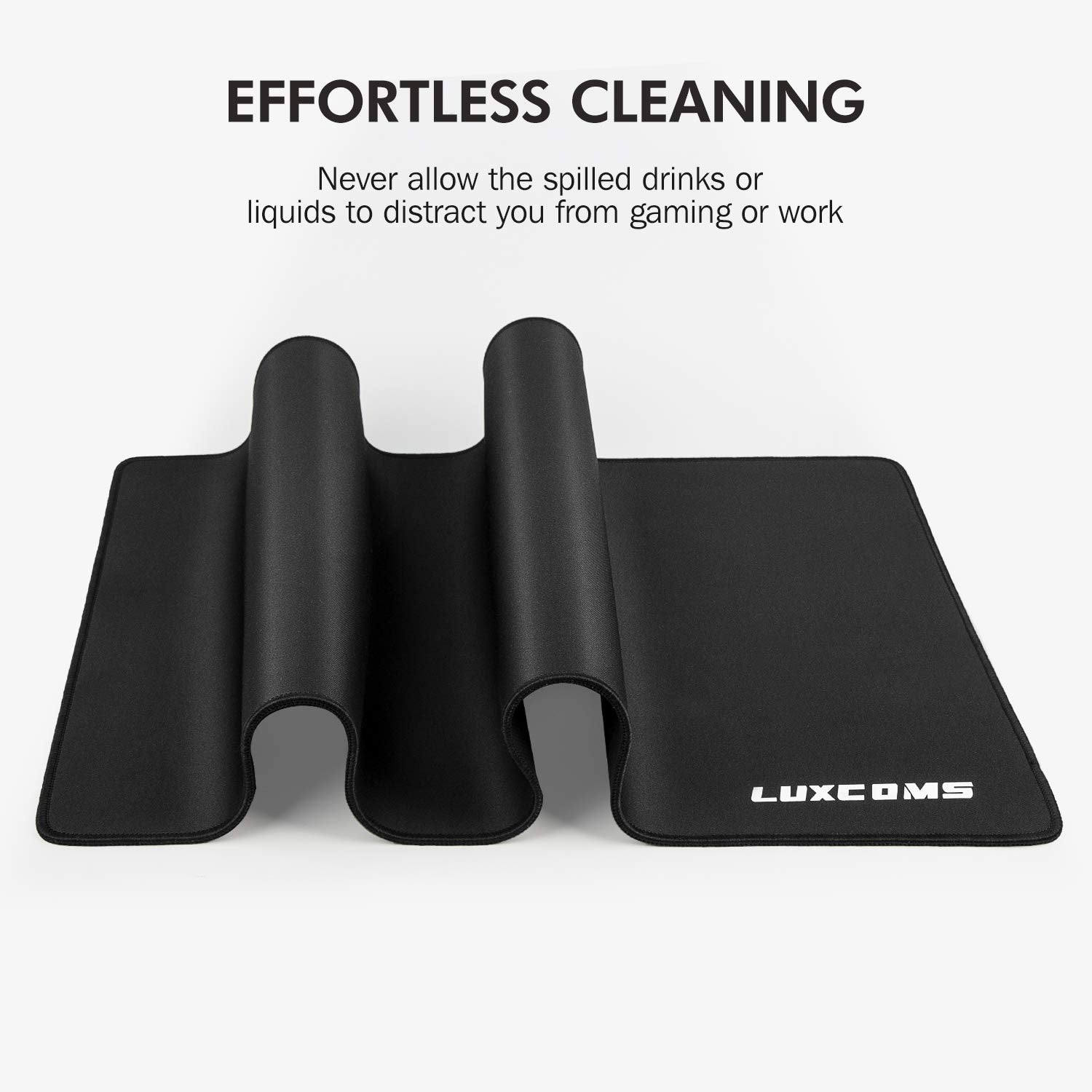 LUXCOMS Large Gaming Mouse Pad,Ergonomic Gel Computer Extended Computer Keyboard Mousepad (31.5×15.75×0.12 in)