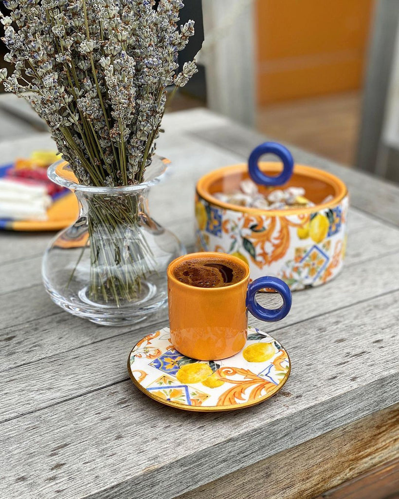 Espresso Cup with Lemon Saucer - H+E Goods Company