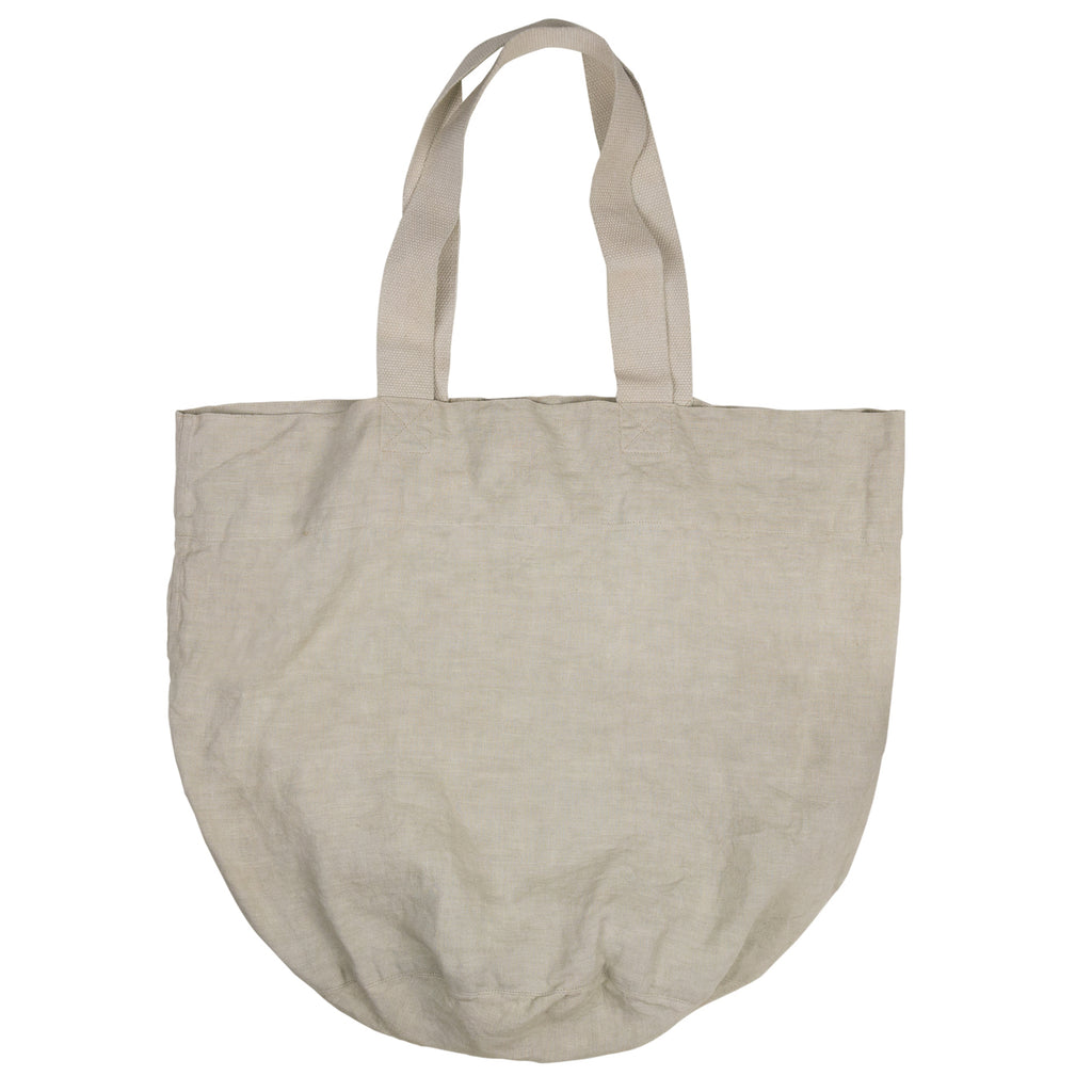 THE PURE LINEN COTSWOLD TOTE, NATURAL - H+E Goods Company