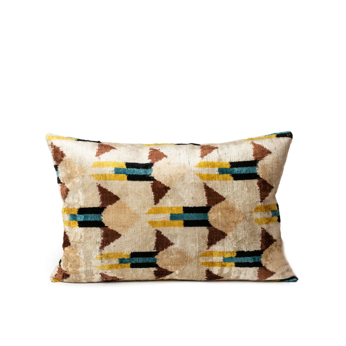 Arrow Ikat Lumbar Pillow - H+E Goods Company