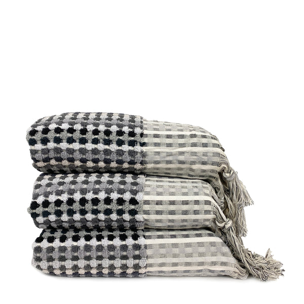 Black-grey Dot Towels - H+E Goods Company
